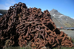 Rusty chains & mountain (patfalvey) Tags: expedition argentina ushuaia southgeorgia grytviken esperanza icebergs antarctic gaucho beunosaires admiralbrown beyondendurance ninafinnkelcey