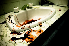 Sink (Adon Buckley) Tags: blood sink scene basin crime bloody handprint washing crimescene buckley bloodyhand brutal adon