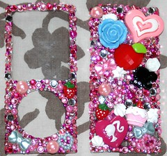 iPod Nano Hime Deco-Den Cover (jembogawa) Tags: pink blue white flower love apple rose mobile strawberry ipod phone heart den cream cell 4th case cupcake clay cover bow whip pearl bling etsy nano deco rhinestone generation bows rhinestones hime 4g whipped iphone gyaru decoden decotti jembogawa