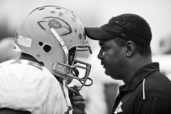 Pep Talk (City Eyes) Tags: sports football illinois coach leadership offense