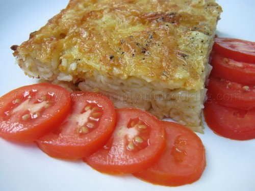 Eggless Macaroni Pie