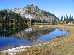 Upper Crystal Lake (Mike Dole) Tags: mountrainiernationalpark cascades washingtonstate crystallake mtrainiernationalpark