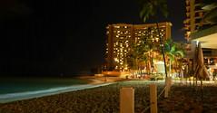 Waikiki Beach at Night (808Talk) Tags: hawaii waikiki oahu waikikibeach