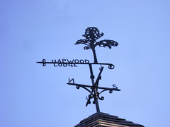 Hapwood Lodge (moocatmoocat) Tags: detail philadelphia sign iron architectural weathervane
