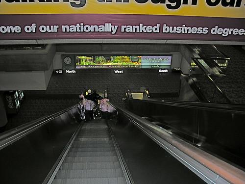 Heading down to baggage claim - Terminal 4