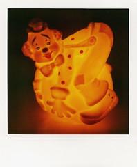 Nite lite (Michael Nika Photography) Tags: polaroid sx70 clown nostalgia glowing lightup tungsten sonar landcamera