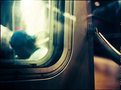 a glimpse of 2046 (Xax) Tags: nyc usa newyork 120 colors brooklyn america underground subway bladerunner metro tube metropolis wongkarwai shallowdepthoffield c41 megacity mamiya645protl 80mmf19 kodakektar100 6x45mediumformatfilm