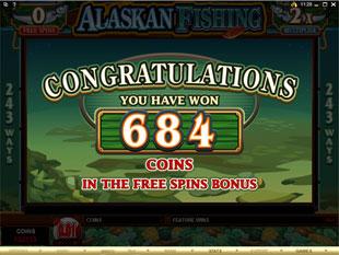 free Alaskan Fishing free spins prize