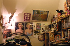 sit and relax-enjoy the view (bballchico) Tags: pictures musician music lamp marilyn cat poster stuffed bedroom personal joel room books things images peeweeherman stuff warhol bb vangogh meaning sunra accoutrements 2605 garypayton