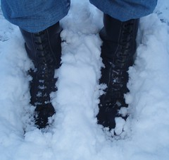 Docs in snow (inbootslad) Tags: snow boots dr deep doc docs martens stiefel 20hole