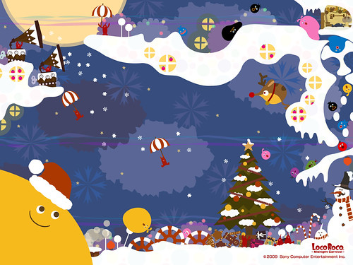 Loco Roco Midnight Carnival Xmas Wallpaper (16001200)