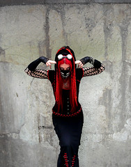 red cyber goth, high res. (mistabys) Tags: red urban girl fashion dark gothic goth style gothique alternative cyber mistabys