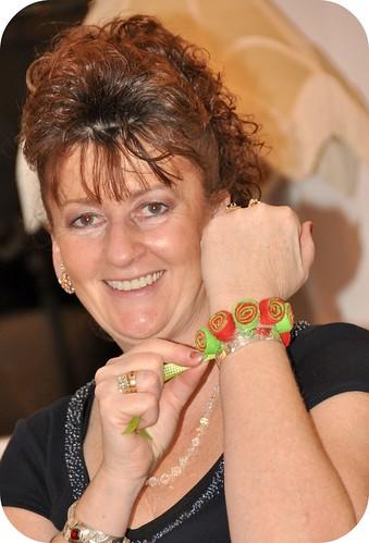 Felt Bead Bracelet