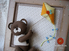 Pipinha do Marcelo (mariafloratelier2) Tags: bear baby beb feltro pipa quadrinho