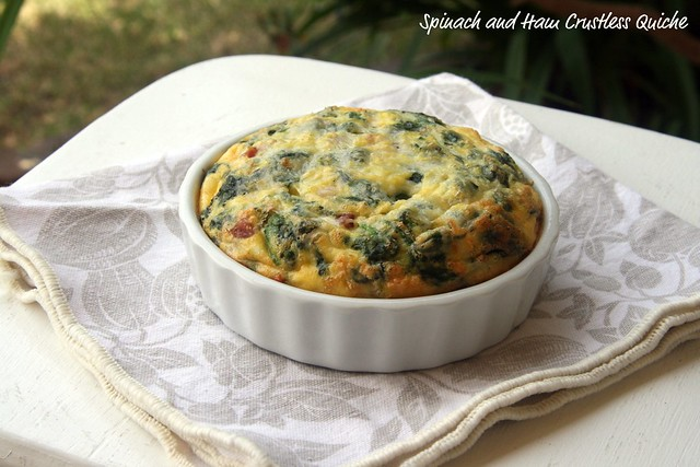 Spinach and Ham Crustless Quiche - French Fridays with Dorie