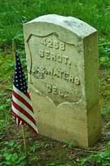 Headstone of Civil War Veteran, Sergeant Jas. Waters, Antietam National Cemetery, Sharpsburg, MD. (goldenanchor) Tags: delaware civilwarveteran sharpsburgmd antietamnationalcemetery jaswaters