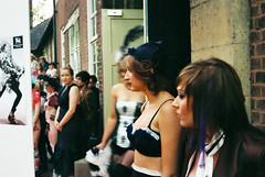 Fashion Show Burlesque (Bikeygeek2010) Tags: show city art film alex zeiss t design birmingham university mason contax 200 carl 38 biad sonnar 38mm truprint inatitute fashiion