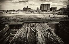 Docklands,Liverpool (Hazeldon73) Tags: wood white black texture liverpool docks buildings mono docklands wow1 wow2 mygearandme ringexcellence