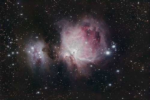The great Orion Nebula, M42 (NGC1976), M43 and NGC1977