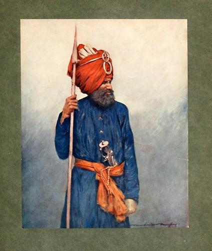 003-Lancero de Jind-The people of India 1910