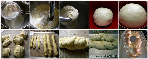 Making Challah Bread