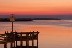Dinner with a view (Nancy Rose) Tags: sunset pier nagshead roanoke sound outerbanks 25seconds roanokesound birdbouse thesugarshackrestaurant