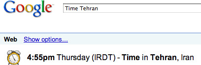 Time in Tehran Google
