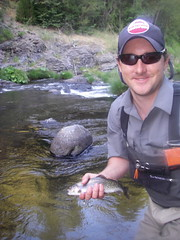 Adam with a dry fly
