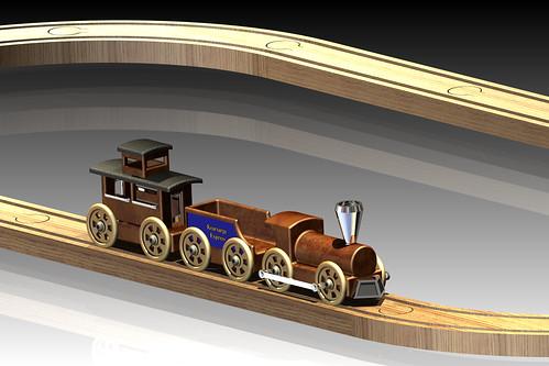 Train, Coal Car, Caboose, and Track