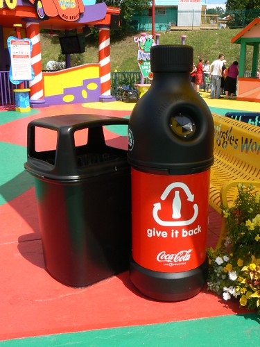 Coca Cola fun recycling bins
