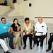 Reflexionando los puntos del tema - iz a der - Humberto Tene, Víctor Silva y Liliana García, Oliva Velasco y Candelario Rosales, Ma. de Jesús Chávez