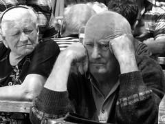 vecchio rapporto (Il cantore) Tags: portrait blackandwhite bw woman man donna bn uomo relationship ritratto biancoenero oldmen anziani rapporto 15challengeswinner canoniani