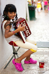 Accordion Girl (beekoz) Tags: butterfly island accordion change tatoo vacations pringles 2009 skiathos sporades pinkyellow skia8os   papadiamantist
