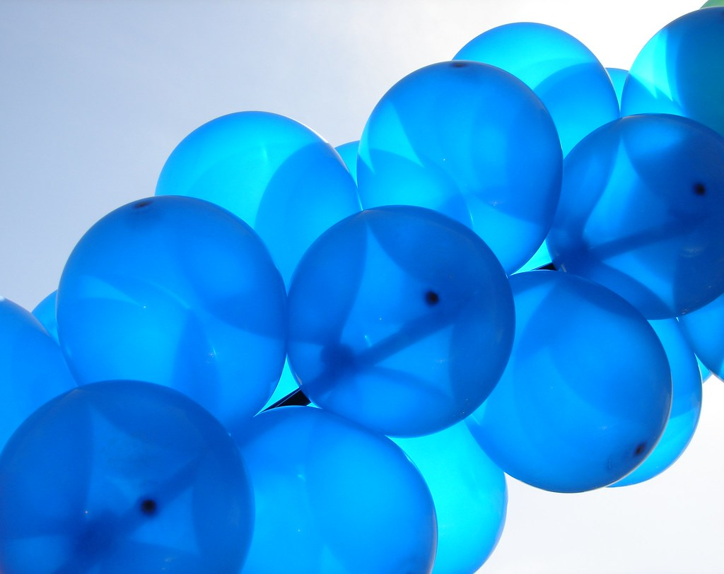 Blue Balloons I