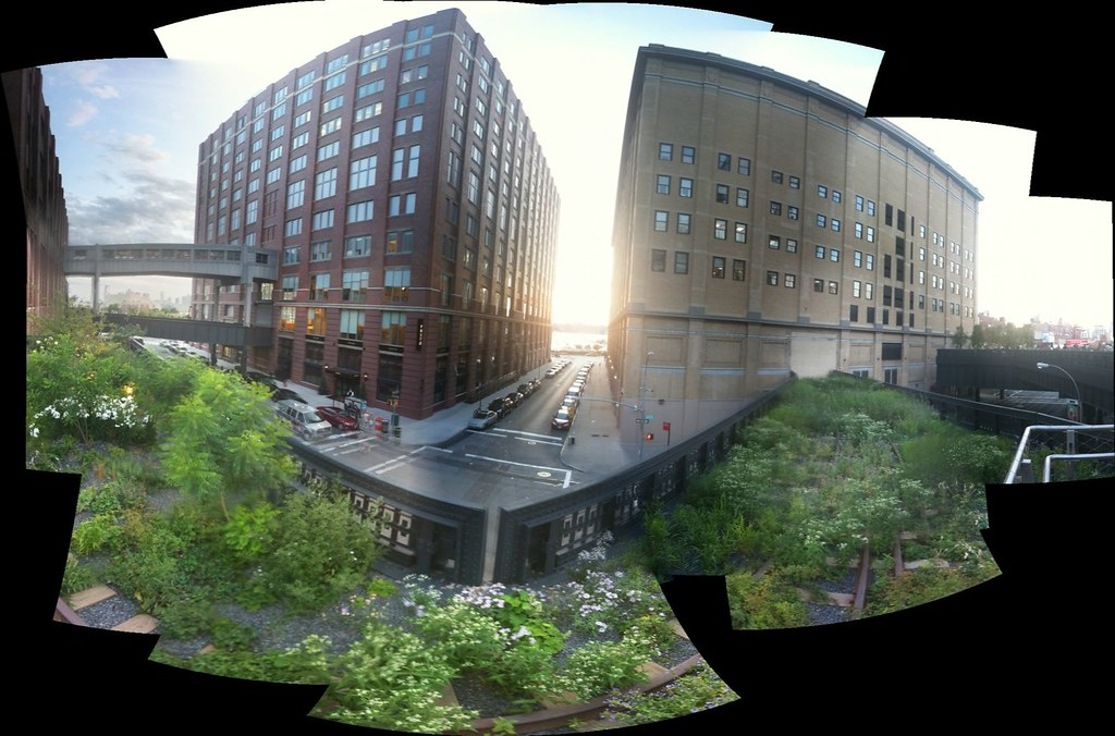 looking west from the high line.