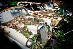 Autofriedhof Grbetal (Rolf F.) Tags: auto old friedhof classic cars cemetery car trash yard canon vintage lost eos rebel schweiz switzerland interestingness interesting junk rust decay rusty dump retro explore forgotten 1750 oldtimer bern 28 junkyard autos left tamron f28 carcemetery autofriedhof cardump historischer xti tamron1750 1750mm tamron1750mm 400d grbetal kaufdorf