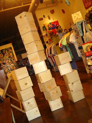 Boxes to display montana spray paint