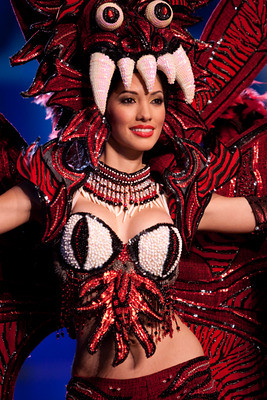 Diana Broce in national costume