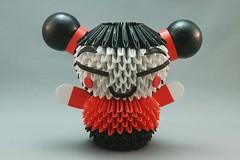 Pucca em origami 3D