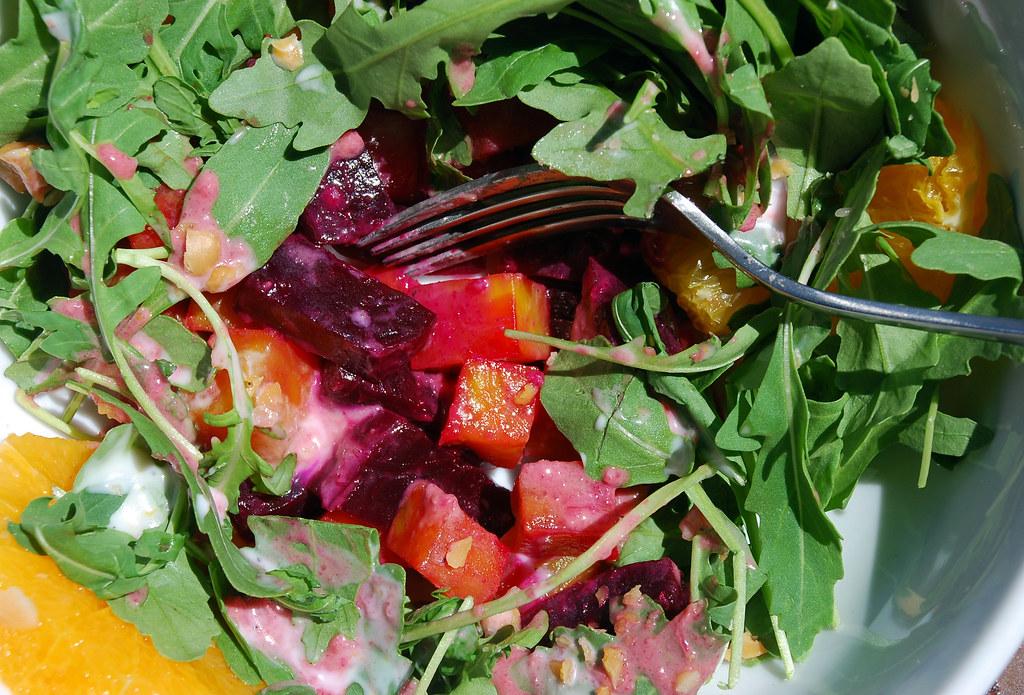 beet salad @ five leaves...
