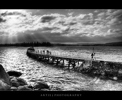 Down the Memory Lane of Victor Harbor Causeway :: BW | HDR (Artie | Photography :: I'm a lazy boy :)) Tags: light cloud sun nature sunshine clouds photoshop canon landscape discount scenery shine view cs2 jetty australia wideangle explore handheld adelaide rays sa 1020mm southaustralia frontpage hdr causeway victorharbor artie graniteisland 3xp sigmalens photomatix tonemapping tonemap 400d rebelxti photomatixdiscount artieng15