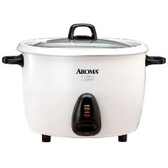 cooking rice with an Aroma rice cooker