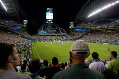 Qwest field, non-NFL football style