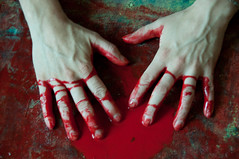 Les mains sales-45 (metatong) Tags: red color painting rouge blood hands acrylic hand main peinture killer murder dexter sang mains guilty murderer coupable acrylique tueur d300 redpaint meurtre meurtrier peinturerouge