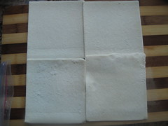 Line up the pastry sheets
