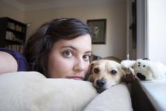 self-portrait with dog(s) (petit hiboux) Tags: selfportrait krissa nano ihaveanewcamera