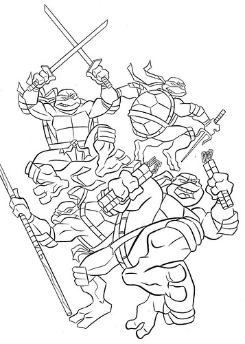 t ninja turtles coloring pages - photo #12
