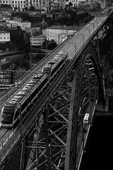 65  ~ the subway on the old bridge (Teresa Teixeira) Tags: train porto pedestrians oporto oldbridge pontedlus teresateixeira