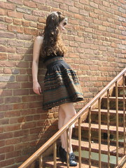 antique shopping in cadiz, kentucky (bloomingleopold) Tags: black vintage greek tank antique kentucky fringe skirt velvet yarn 1950s heels 1960s weave forever21 bloomingleopold