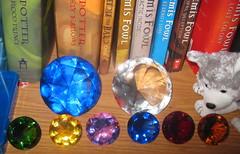 Ryan's Gems (genesee_metcalfs) Tags: books bookshelf collection gems beanies chaosemeralds